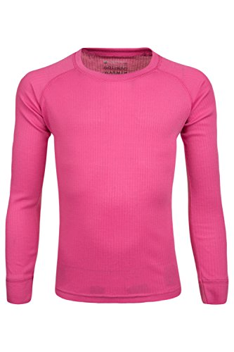 Mountain Warehouse Talus Kids Round Neck Baselayer Top - Long Sleeve T-Shirt, Lightweight, Fast Dry Shirt, Easy Care Tee - Ideal Tee Shirt While Camping in Cold Weather