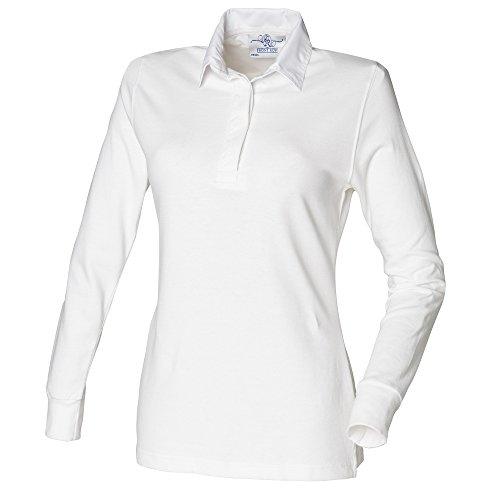 Front Row - Polo - Femme Blanc - White / White (white collar)
