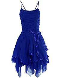 MIXLOT Damen Prom Strappy Abend Short Cocktail Party Layered Brautjungfernkleid Womens Größe One Size