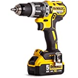 DEWALT DCD796P1-GB XR Brushless Compact Lithium-Ion Combi Drill, 18 V, Yellow/Black