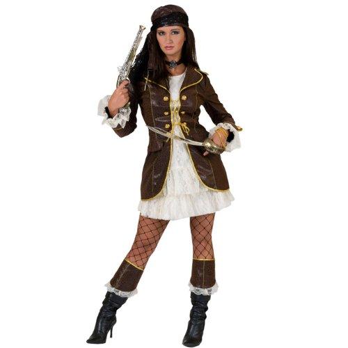 Funny Fashion 511079 - Piratin Jane 2-teilig, mit Stulpen, Größe - Traumhafte 3 Teilig Kostüm