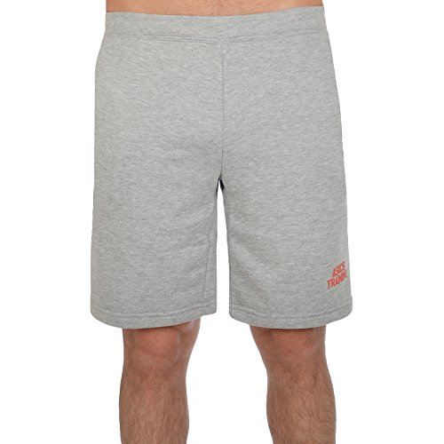 Asics Training Tech - Pantalones Cortos de Running Hombre - Running Gimnasio Deportes Entrenamiento - Gris - M