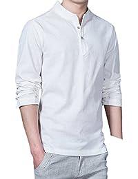 6a5c4cdeae Amazon.it: camicia di lino uomo - Abbigliamento sportivo / Uomo ...
