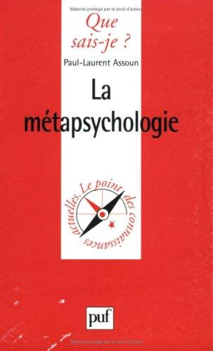 La Métapsychologie par Paul-Laurent Assoun