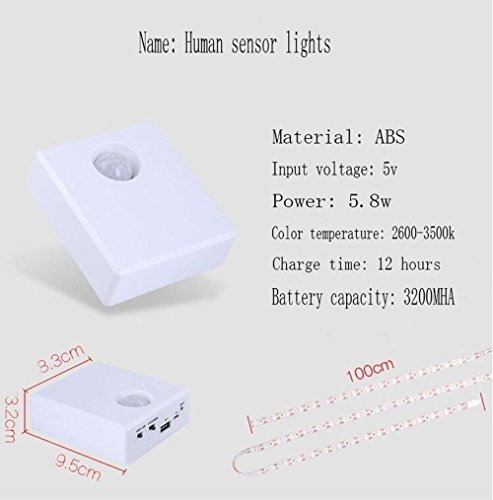 Infrarot Der menschliche Körper Sensorlicht Gürtel Aufladen LED Von der nacht Baby Fütterung Lichtsteuerung Nachtlicht, warm light