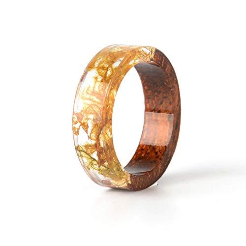 BHYSYN Harz Blume Ringe Für Frauen Boho Verlobungsring Vintage Schmuck Hochzeit Ringe Für Paar Prinzessin Ring Geschenke (Harz Blume Ringe)