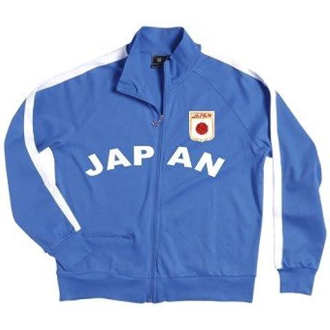 Japón Zip Chaqueta con escudo bordado S–XXL) azul, blanco Talla:large