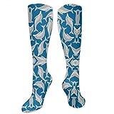Gped Kniestrümpfe,Socken Blue Sea Dolphins Compression Socks,Knee High Socks,Funny Socks Women Men - Best Medical,Sports,Running, Nurses,Maternity,Pregnancy,Travel & Flight Socks