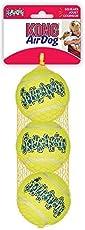 Kong Air Dog Squeakair Tennis Balls Dog Toy - Medium, Yellow (Pack of 3)