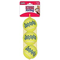 KONG Squeakair Dog Toy Tennis Ball - Medium, Pack of 3