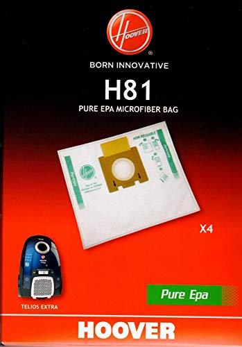 BOLSA PURE HEPA HOOVER H81 PARA ASPIRADOR TELIOS EXTRA - 4 UNIDADES -