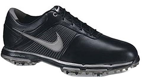 Nike Lunar Lite - Herren Golfschuhe. Weiches Leder. 2-Jahre begrenzte Wasserfestigkeitsgarantie. Herausnehmbare, gepolsterte Innensohle. Flywire Technologie. TPU Spikes. EUR 44 US 10 UK 9 28 cm