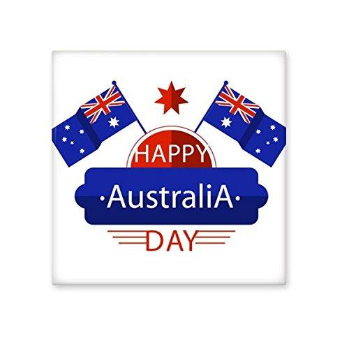 n Flavor Happy Australia Day Flagge und Stern Illustration Keramik Bisque Fliesen für Dekorieren Badezimmer-Dekor Küche Keramische Fliesen Wandfliesen L ()