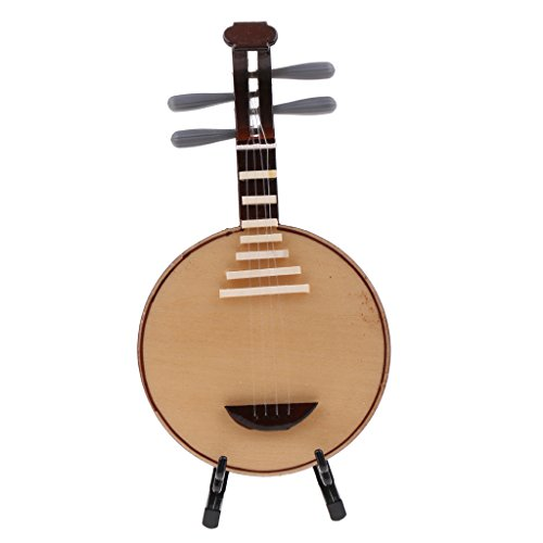 Sharplace Mini Musikinstrument Modell mit Ständer für 1/12 Puppenhaus Dekoration / Puppenstube Zubehör - Yueqin