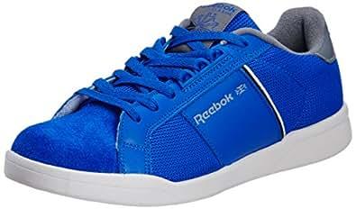 Reebok Classics Men's NPC II Retro Lite LP Blue, Grey, Black and Sandtrap Sneakers - 10 UK