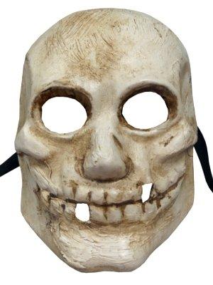 Weiß Handarbeit Full Face Horror venezianischen Skull Mask