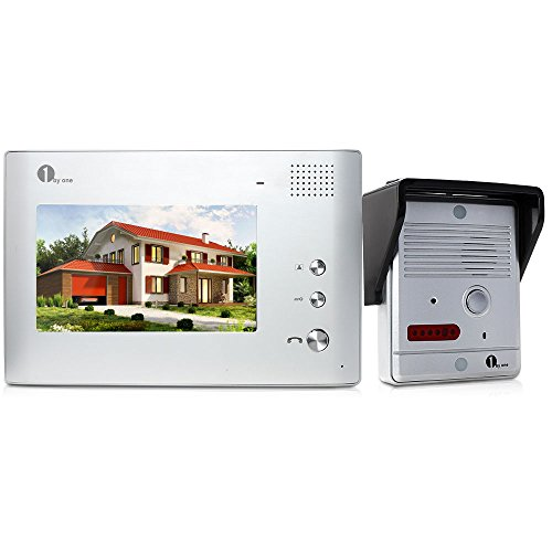 1byone 7-Inch LCD Video Doorbell Camera System with Rain Cover