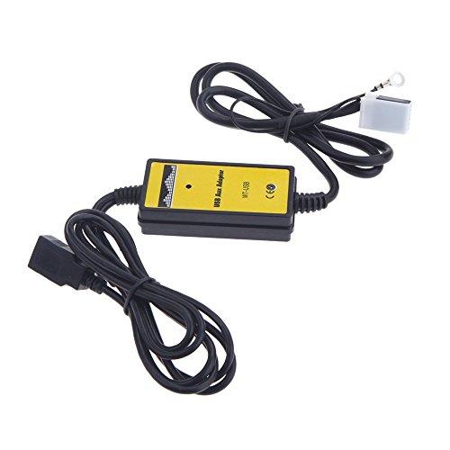 KKMOON Auto USB Aux-Adapter MP3 Player Radio Interface für VW Audi Skoda Seat 12Pin
