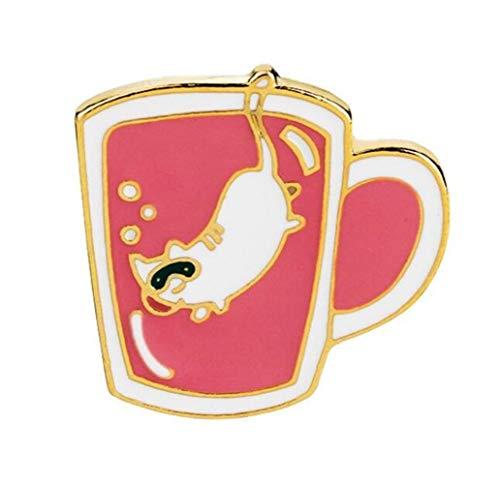 MtniAY Home Mode Grüner Tee Tasse Kostüm Zubehör Brosche Button Badge (Bunte) Kreative Reizende Abzeichen (Tasse Tee Kostüm)