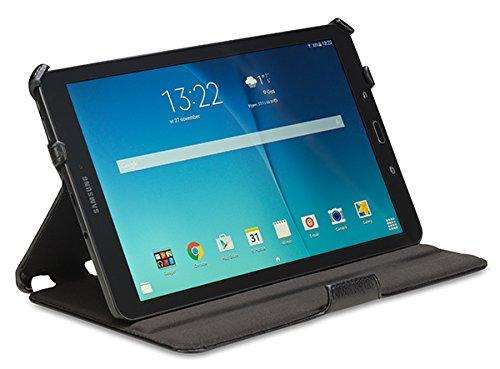 Gecko Covers - Samsung Galaxy Tab E 9.6 Hülle Slimfit - Schwarz - Multifunktionelle Tasche bietet Schutz und Multimedia-Komfort / Cover mit Präsentationsfunktion - Tablethülle geeignet für Samsung Galaxy Tab E 9.6 Zoll - Multimedia-tasche