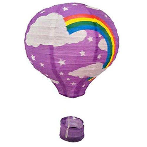 (Black Temptation Geburtstagsparty/Weihnachten/Ostern/Mall Dekoration hängen Papier Laterne Heißluftballon 30cm(Regenbogen))