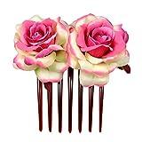 Bandeau Femme - OSYARD Peigne Cheveux de Manriage Bandeau de Fleur Rose Tête