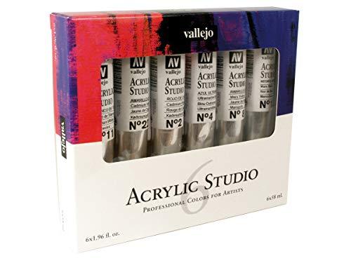 Vallejo Acrylic Studio 21999 Intro Set (6x58ml)