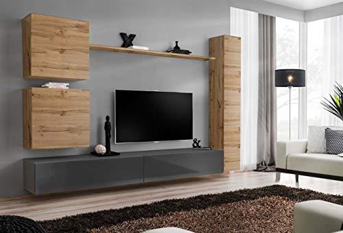 Juub switch viii wotan - parete da incasso per salotto, finitura lucida, con clic a pressione, switch viii wtg