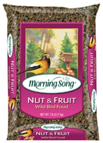Morning Song Nut and Fruit Wild Bird Food, 7-Pound - Morning Song Wild Bird