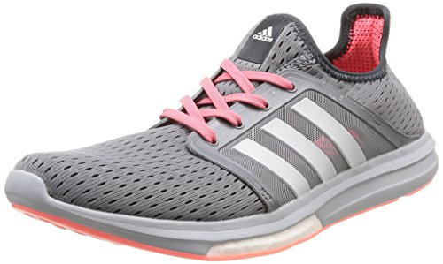 adidas Climachill Sonic Boost, Chaussures de Running Compétition Femme gris (Grey/Ftwr White/Flash Red S15)