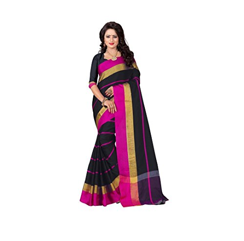 Veronica Closet Women's Multi Colour Cotton Silk Saree With Blouse Material