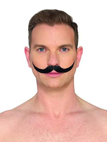 Halloweenia - Kostüm Accessoires Zubehör Herren Schnurrbart Schnauzer Zwirbelbart Moustache, perfekt für Karneval, Fasching und Fastnacht, ()