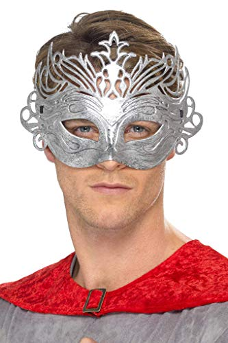 Smiffys 40005 silberne Colombina-Maske, Einheitsgröße