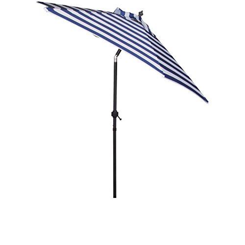 Th. Philipps Gelenk Sonnenschirm Blau/Weiss - Gestreiften Blau Und Stoff Weiß
