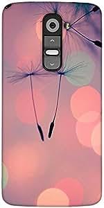 Snoogg dandelions at sunset Designer Protective Back Case Cover For LG G2