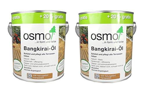 Preisvergleich Produktbild Osmo Spar-Set 2x: Bangkirai-Öl 006 naturgetönt 3 L Aktionsgebinde