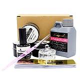 LyDia® Acrylic Nail Kit - Pink, White & Clear Acrylic Powder; Acrylic Liquid; Nail Primer; Nail Brush; Nail Forms and Glass Dish