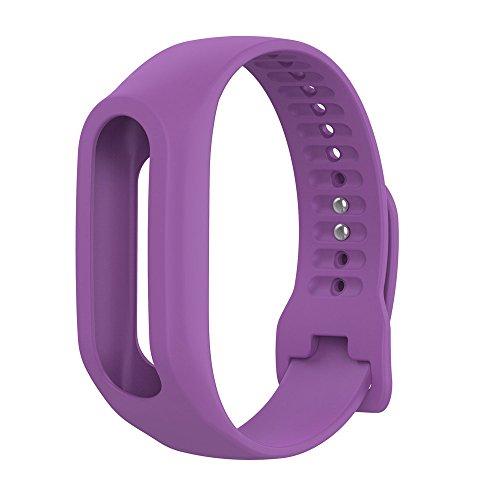YBWZH Ersatz-Silikonband für Tomtom Cardio Activity Tracker Silikonband Ersatz Uhren-Armband Ersatzband Smart Watch Band(Violett)