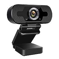كاميرا ويب بكابل يو اس بي عالية الدقة 1080 بي مع ميكروفون مناسبة لللاب توب وكاميرا الكمبيوتر للألعاب/ مكالمات الفيديو/ التسجيل/ المؤتمرات