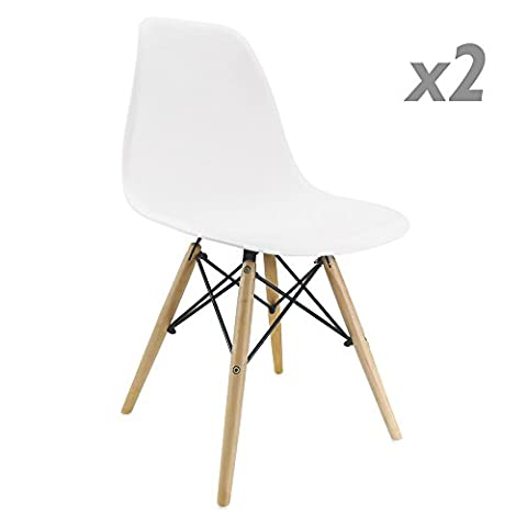 Chaise pour enfants inspirée Tour Eiffel blanc (PAQUET DE