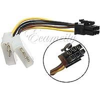 Generic tarjeta gráfica adaptador de Cable conector Dual 4 pin Molex IDE a 6 pines PCI-E<1&1832*5>