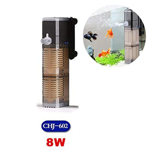 Eckfilter Interne Aquarium Filter Aquarium DREI-In-One Pumpe Tauchpumpe Aquarium Wasserpumpe 7W 8W 20W 25W Für Kleine Und Mittelgroße Aquarien,8W (Filter Aquarium Interne)