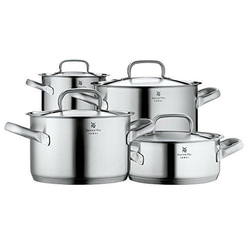 WMF Topf-Set 4-teilig Gourmet Plus Innenskalierung Dampföffnung Made in Germany Hohlgriffe Metalldec