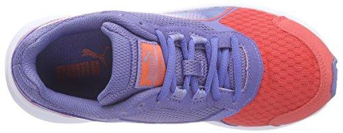 Puma  Descendant v3 Jr, Sneakers Basses mixte enfant Multicolore (cayenne-bleached denim-cayenne 02)