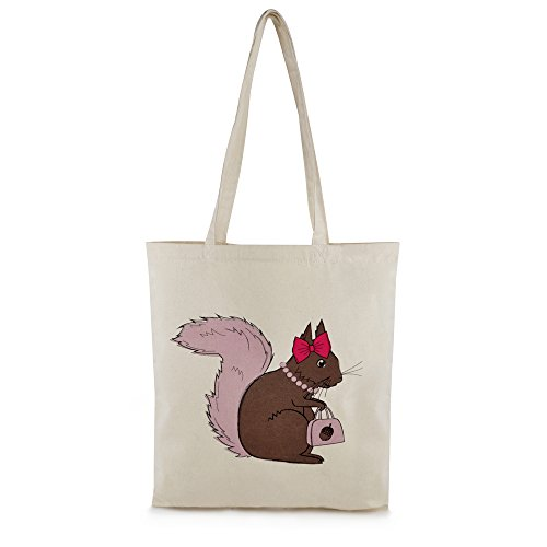 Zest – Borsone in tela di cotone stampato shopper Brown Squirrel