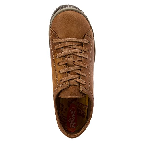 Softinos Isis washed leather, Derbies à lacets femme braun