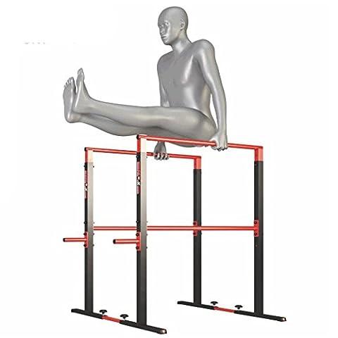 Professionnel DIP Station Barres Parallèles Ajustables Support à 280 kg 110 cm de haut