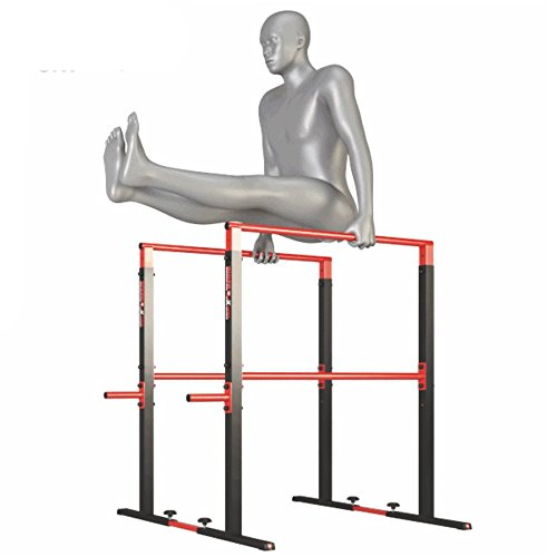 Dip Station Barren Ständer Fitness Rack mit PUSH UP bis 275Kg Höhe verstellbar 95-105cm Parallettes - Crossfit - Calisthenics