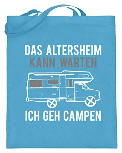 Das Altersheim Kann Warten, Ich Geh Campen - Rentner Ruhestand Pension Genießen Camping - Jutebeutel (mit langen Henkeln)