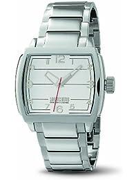 Moschino MW0112 - Reloj analógico de caballero de cuarzo con correa de acero inoxidable plateada - sumergible a 50 metros